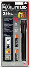 "Mag-Lite Mini Mag-Lite 2AA Cell LED Black. 5 3/4"" overall. Aircraft grade alumin"