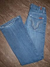 """7 for All Mankind Size 26"""" Medium Wash Boot Cut Jeans"""