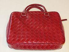 Estee Lauder make up travel case lap top purse messenger bag tote red