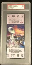 1992 Super Bowl XXVI full ticket PSA 9 Washington Redskins  Buffalo Bills