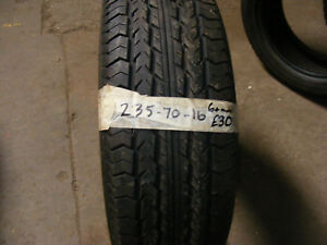 235 70 16 PART WORN TYRE 6mm FITTED AND BALANCED