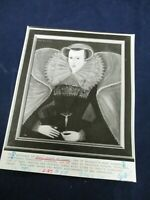 1 of Britain's most tragic figures Mary Queen of Scot's Vintage Wire Press Photo