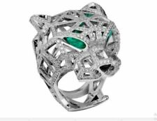 1.60Ct Round Cut Diamond Replica Panthere De Cartier Ring In 14K White Gold