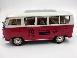 Volkswagen T1 70 ans du combi VW echelle 1:24 longueur 16cm neuf dans sa boite