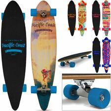 Longboard 112 x 26 cm 44Inch ABEC 7 Skateboard Riding Cruiser Pintail Kick Retro