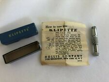 Vintage Klipette Nose Hair Trimmer Original Box and Instructions Hollis Company