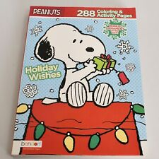Peanuts Snoopy Holiday Wishes 288 Page Coloring Activity Book