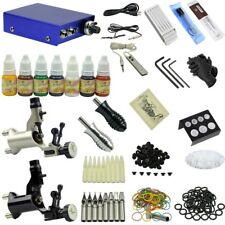 2 Machine Tattoo Kit with 7 Tattoo Pigments Black Sliver Motor Grips Needles