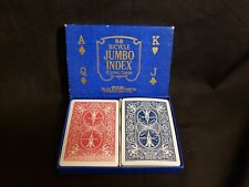 Vintage Bicycle Blue Box Jumbo 88 Red and Blue Playing Cards Red Deck Sealed
