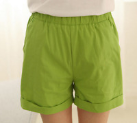 Plus Size Women Cotton Hot Pants Casual Beach Shorts Summer Ladies Sports Shorts