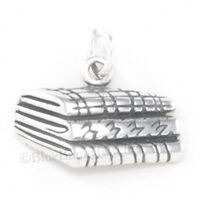 FABRIC Charm quilting Pendant Seamstress sewing quilt charm Sterling Silver 925