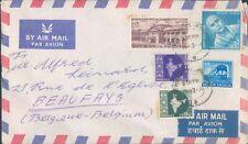 INDIA nice cover to Belgium 1956