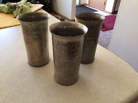 Vintage EVERLAST Forged Aluminum Cups~Tumblers~#987 Set Of 3