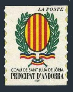 Andorra Fr 531,MNH. Arms Sant Julia de Loria,a booklet stamp,2000.