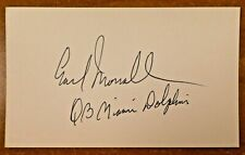 Earl Morrall Miami Dolphins QB Football NFL Autographed Signed Index Card