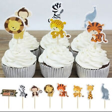 24pcs Cupcake Picks Toppers Jungle Theme For Kids Birthday Baby Shower Party