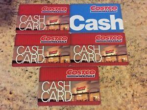 5 ~ COSTCO WHOLESALE CASH GIFT CARDS ~ $0 Zero Balance
