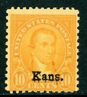 USA 1929 Kansas 10¢ Monroe Scott 668 Very Fine Mint Non Hinged G944