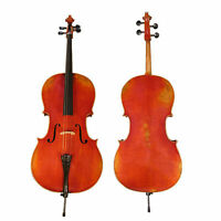 D'Luca Hand-Made French Antique Finish Ebony Cello Outfit, 1/2 Half Size