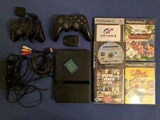 Sony PlayStation 2 Slim + Spiele (Star Wars, GTA, ...) + Controller
