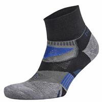 Balega Unisex Enduro V-Tech Quarter Exercise Running Socks Black Grey