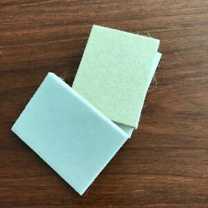 5pcs 100*75mm Off Nature Wool Felt Pad Vehicle Auto glass Polishing Pad