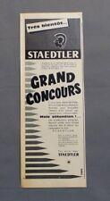 PUB PUBLICITE ANCIENNE ADVERT CLIPPING 161017 / GRAND CONCOURS STAEDTLER CRAYON