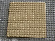 Plaque de base beige LEGO Tan Baseplate 16 x 16 ref 3867 / set 6455 1782 6442 ..