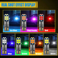 T10 LED W5W 3030 10SMD Auto LED Car Interior Light plate Dome Reading Lamp YK