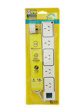 HPM 1.8m 5 Outlets Powerboard With Surge & Safety Overload Protection D105/STRPA