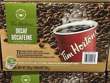 Tim Hortons Coffee K Cups SingleServe DECAF 72Count Canada