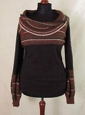 Lange feine Damen-Pullover mit Wasserfall-Ausschnitt