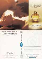LANCOME ATTRACTION FRAGRANCE ADVERTISING UNUSED COLOUR POSTCARD