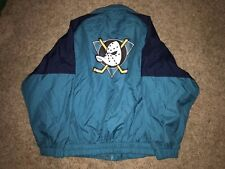 Vintage NHL Hockey Anaheim Mighty Ducks Jacket Winter Coat Out Brook RARE