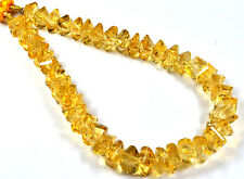 "PH-066 Citrine AAA+ Twisted Square Faceted Gem Beads 7.5mm-8mm 108Ct 8.5"" Strand"