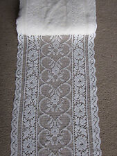 "Antique design enchanted Garden 160""  4m long sidelight panel White cotton lace"