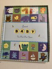 "Nib 9x11.5"" Baby Memory Book ~ Keepsake ~ sweet first five new seasons (S-074)"