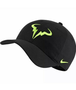 NWT Nike Rafael Nadal Bull Heritage86 Aerobill Tennis Hat-Black Volt 850666-013