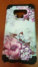 Blue Flower Galaxy Note 9 Hybrid Armor Case Three Layer Protective Shockproof