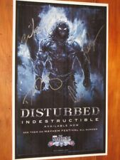 "DISTURBED - FULLY SIGNED - INDESTRUCTIBLE - 11"" X 17"" INCH POSTER"