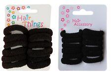 Set of 12 Soft Coloured Hair Donuts Ponios Bobbles Elastics Hair Bands