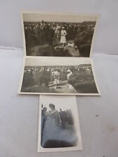 3 x Photos  Queen Mother & Princess Margaret at the Model Flying Club, Langley