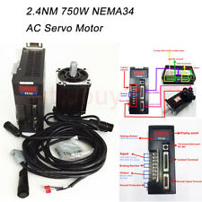 NEMA34 AC Servo Motor Driver 2.4NM 750W 3000RPM+3M Cables 90st-m02430 for CNC