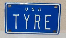 1960'S VINTAGE MINI USA TYRE LICENSE PLATE NAME TAG SIGN BICYCLE VANITY PL8