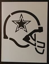 "Dallas Cowboys Football Helmet 8.5"" x 11"" Custom Stencil FAST FREE SHIPPING"