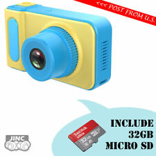 Kids Digital Camera + Genuine Original SanDisk 32GB microSDHC UHS-1 Memory Card
