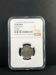 1574-86 P B Bolivia Real. NGC VF Details