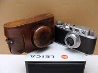 """Leitz Wetzlar - Leica II Kamerakit Elmar 3.5/5cm """"CLA Camera Service"""" - TOP!"""