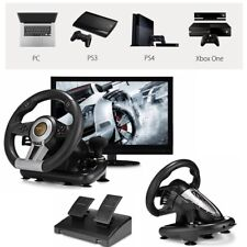 PXN V3II Racing Game Steering Wheel with Brake Pedal for PC PS3 PS4 Xbox One