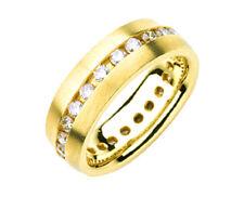 Round Brilliant Cut Diamond Men's Ring 2.24 Carat 18k White Gold